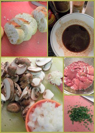 Chicken livers on toast - Ingredients