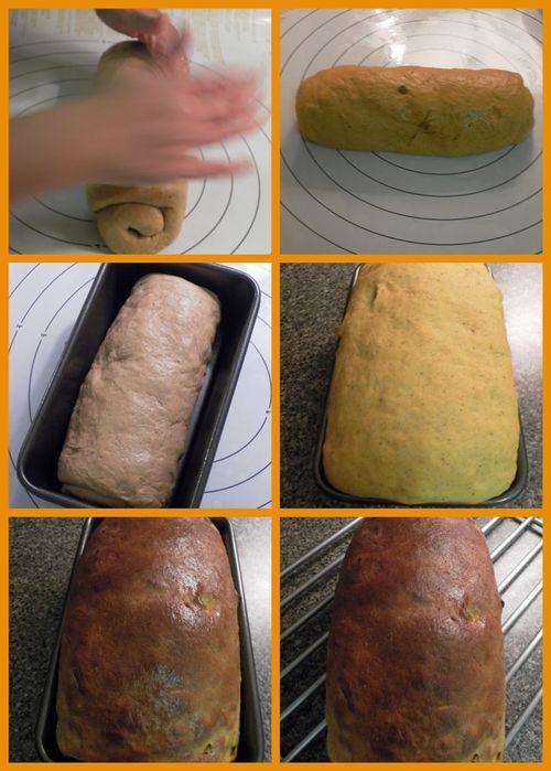Pumpkin, Cardamom & Raisin Sandwich Bread - collage3