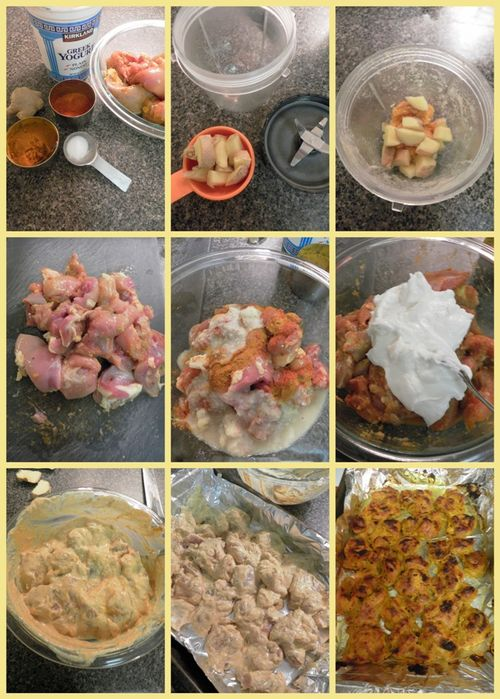 Butter chicken - collage1