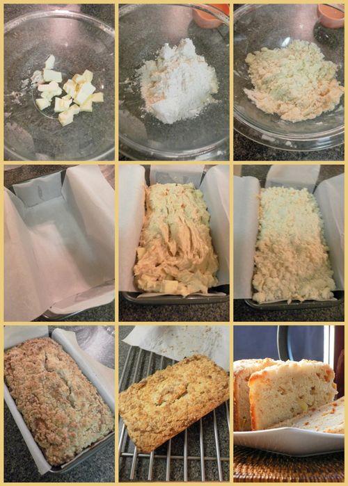 Buttermilk Apple Crumb Cake - collage3