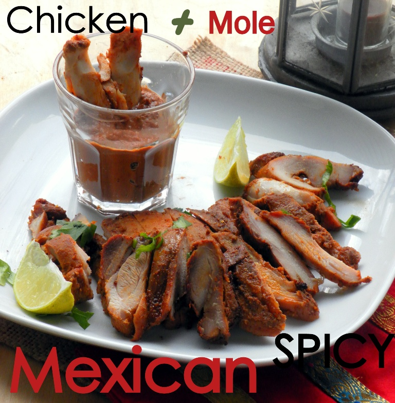 Spicy Mexican chicken-mole sauce2