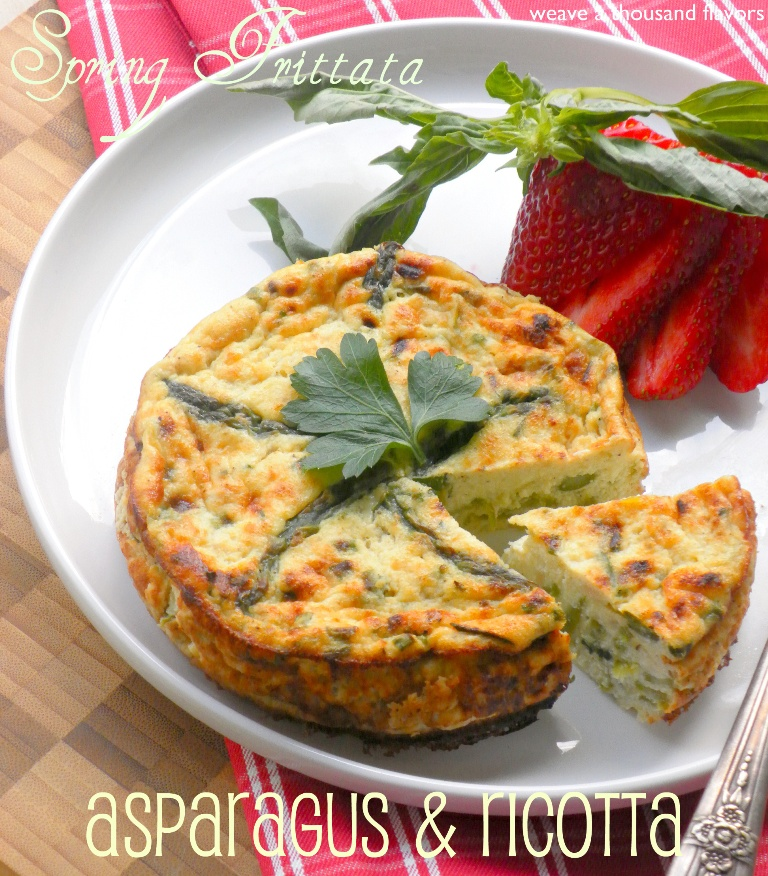 Oven Baked Ricotta & Asparagus Frittata