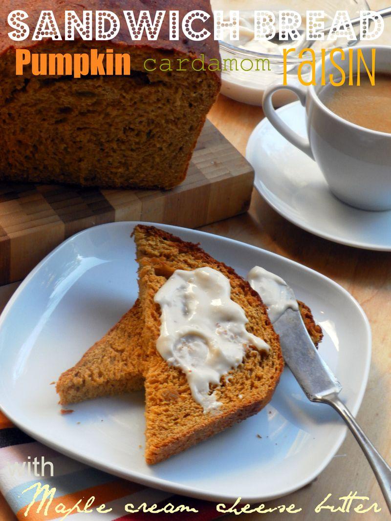 Pumpkin, Cardamom & Raisin Sandwich Bread - 01