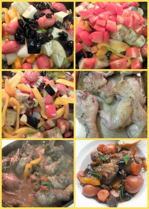 Sicilian style spicy chicken - collage3