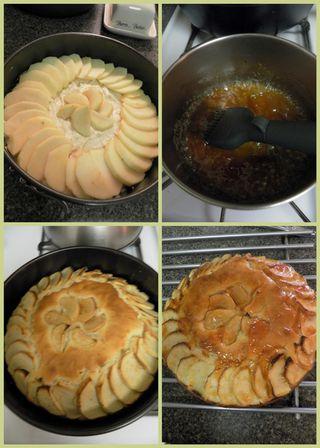 Apple tea cake - collage4