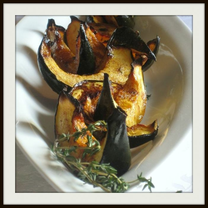 Decadent Sugar & Thyme Roasted Acorn squash