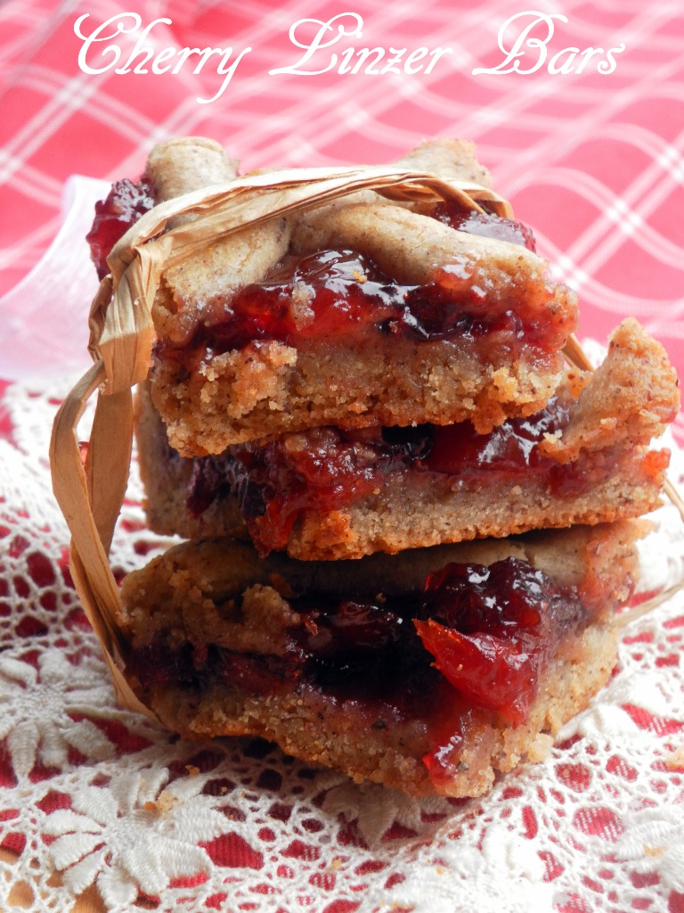 Cherry Linzer Bars - 01