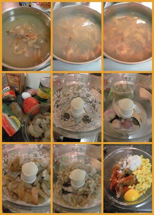 Shrimp & Dumpling soup - collage1