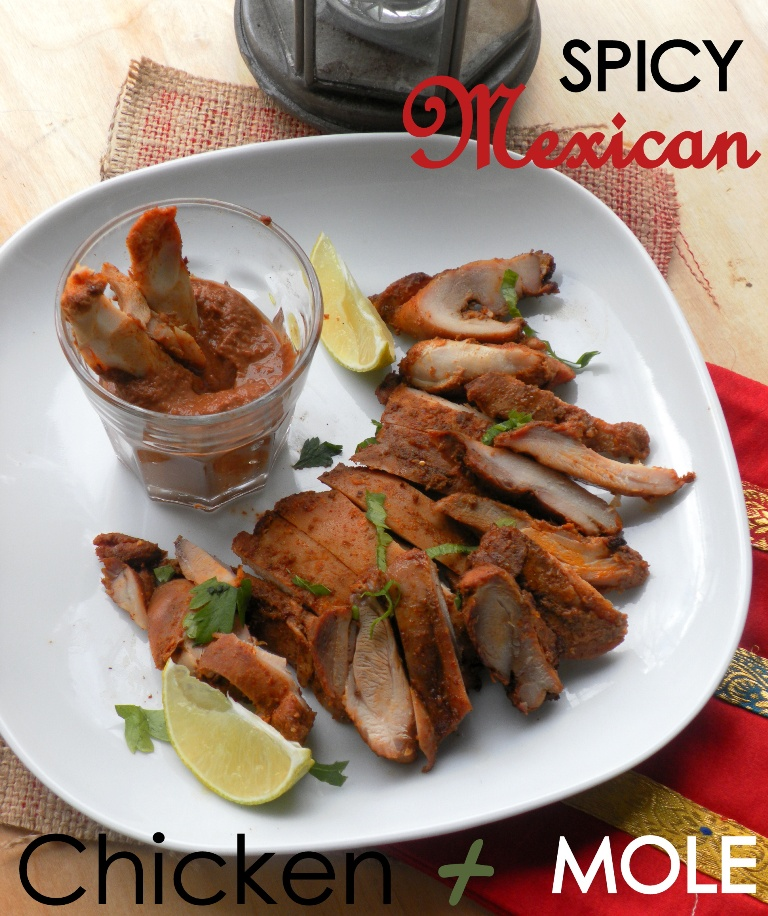 Spicy Mexican chicken-mole sauce1