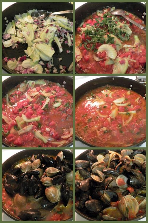 Sicilian Mussel and clam soup-collage2