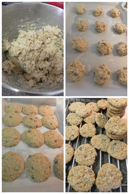 Oatmeal butterscotch cookies-collage3