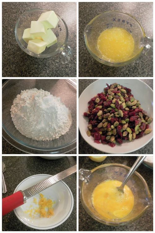 Lemon, pistachio, cranberry biscotti-collage1