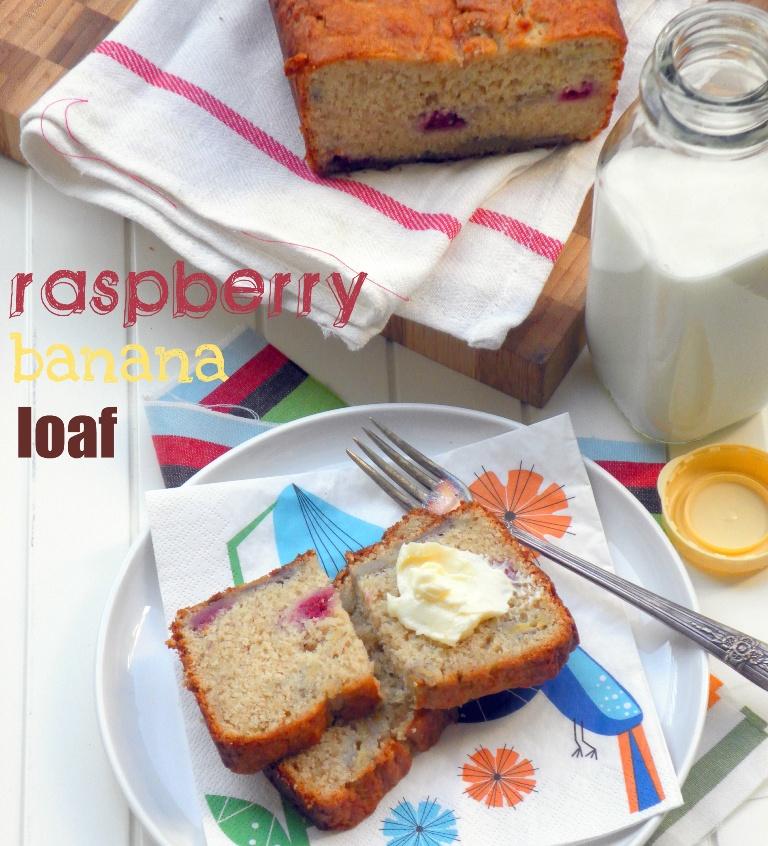 Raspberry banana loaf2