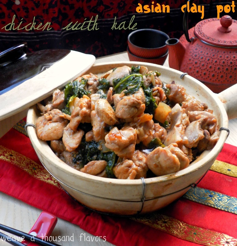 Cantonese Style Clay Pot Chicken with Kale