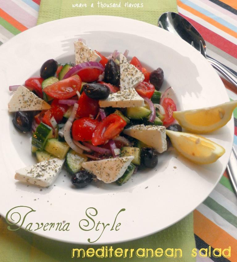 Taverna Style Mediterranean Salad