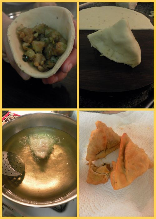 Samosa - dough collage5