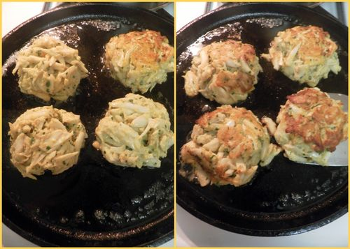 Maryland crab cakes - collage3