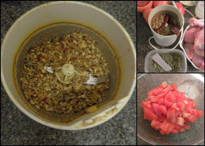 Kadhai chicken-collage1