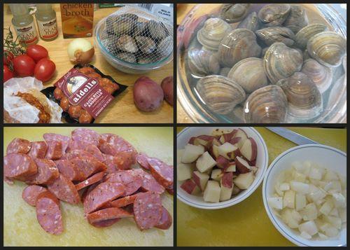 Portuguese clam soup-collage1