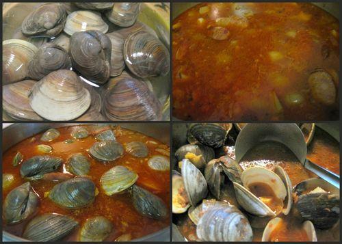Portuguese clam soup-collage5