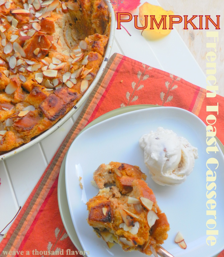 Pumpkin french toast casserole -1