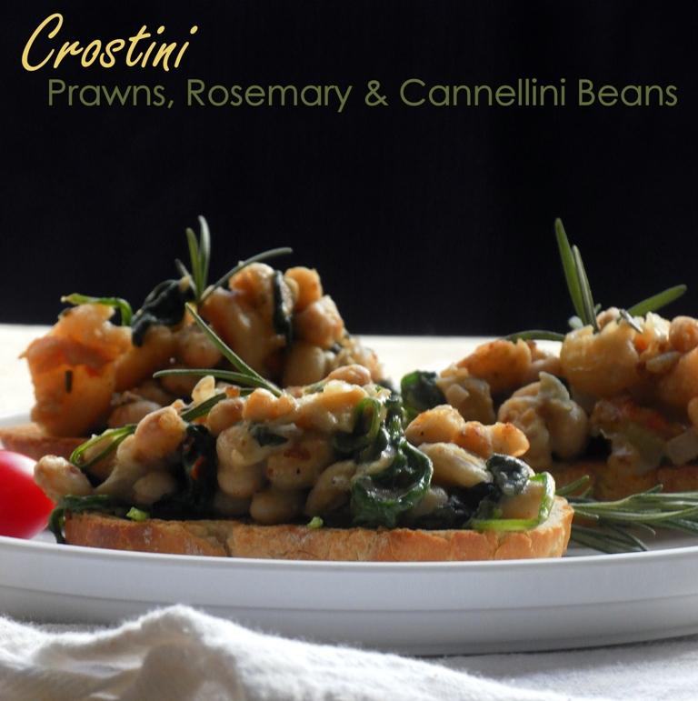 Crostini prawns & cannelini - 01