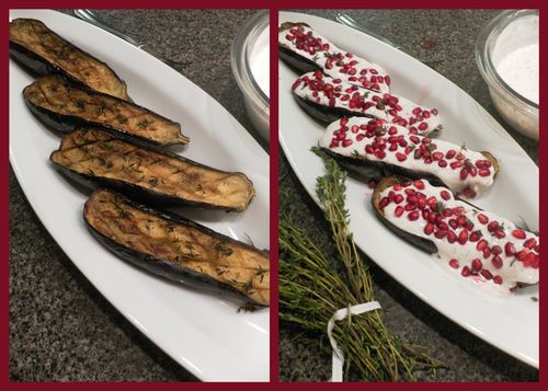 Ottolenghi eggplant - collage 4