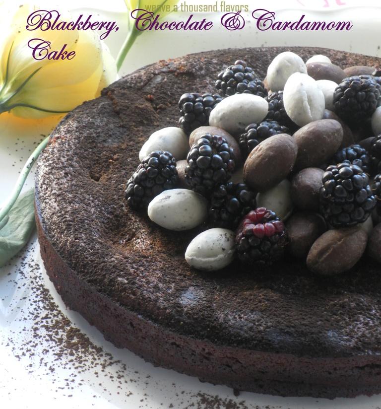 Blackberry, cardamom chocolate cake-02
