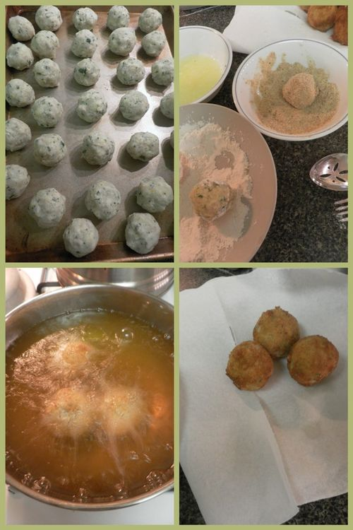 Tuna ricotta fritters-collage4