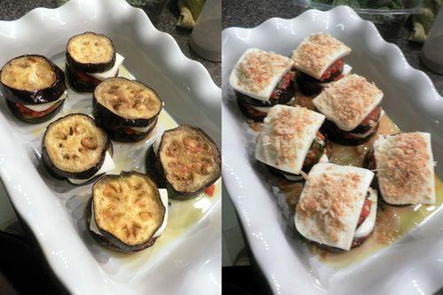 Eggplant Parmigiano - collage 5
