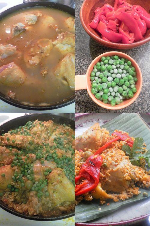 Arroz con pollo - collage7