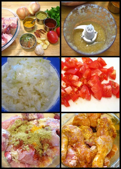 Collage1 - chicken masala