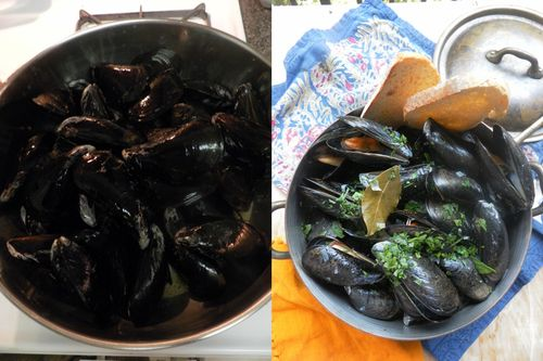 Moules Mariniere-collage3