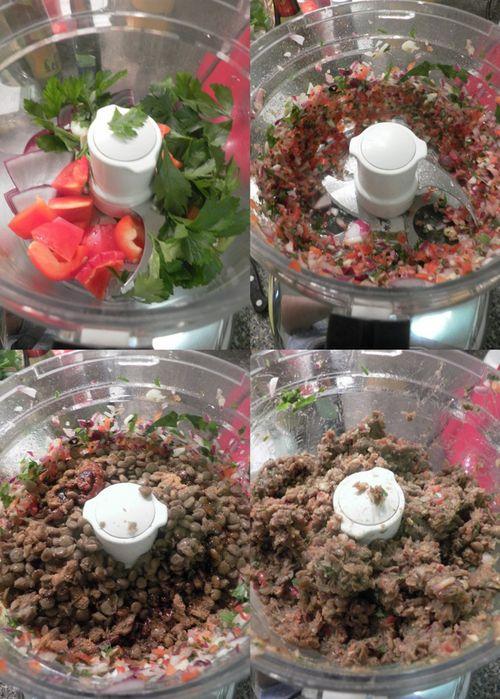Mediterranean lentil burgers -collage1