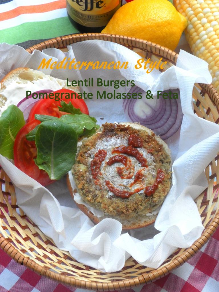 Mediterranean lentil burgers -01