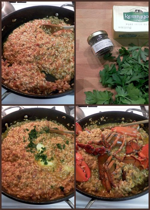 Lobster saffron risotto-collage4