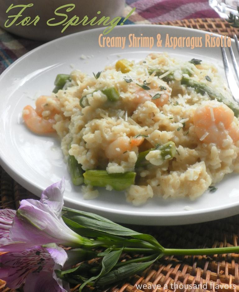 Asparagus & shrimp risotto-1