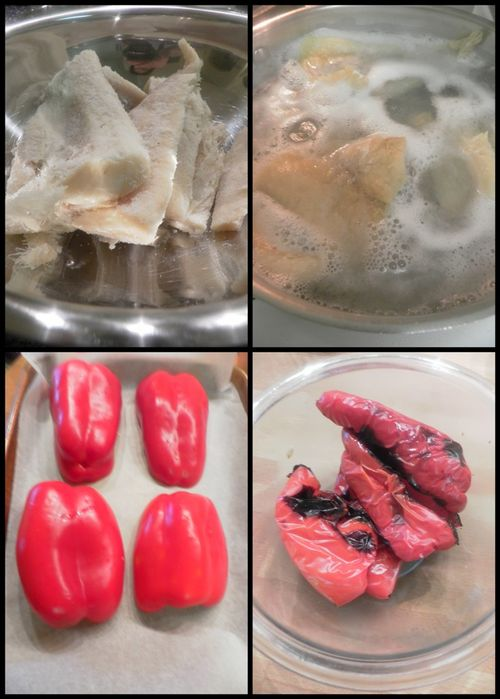 Bacalao with red peppers-collage1