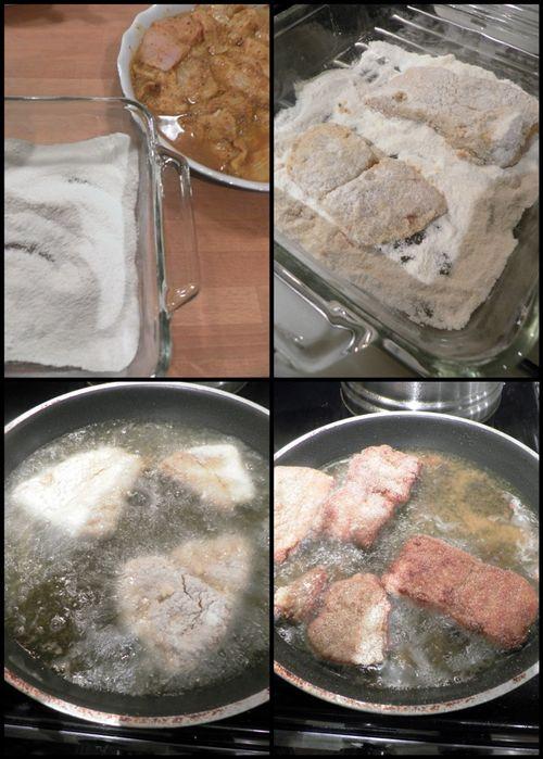 Goan fried fish Recheado-collage4