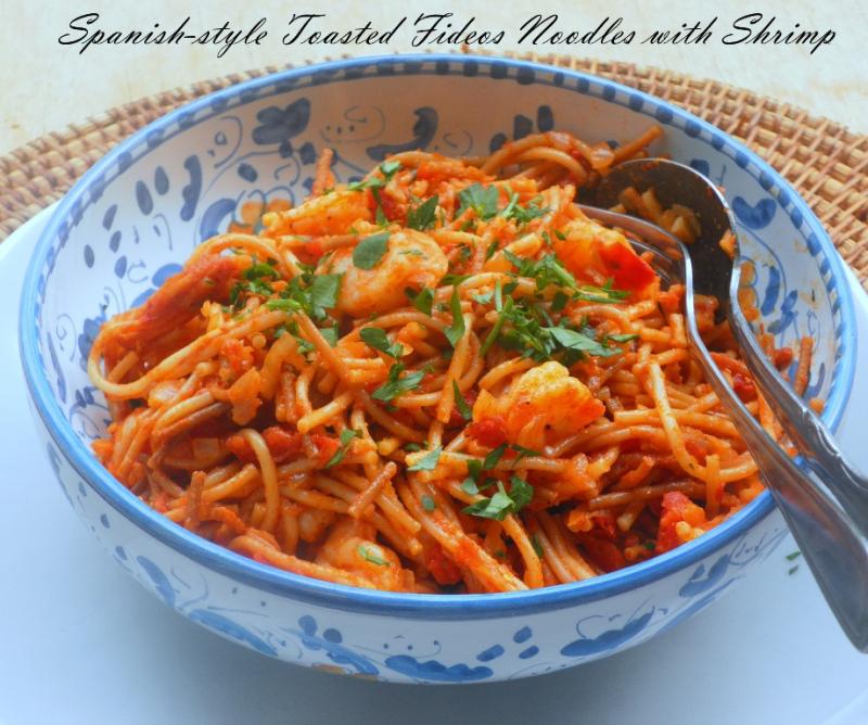Fideaos noodles with shrimp - 01