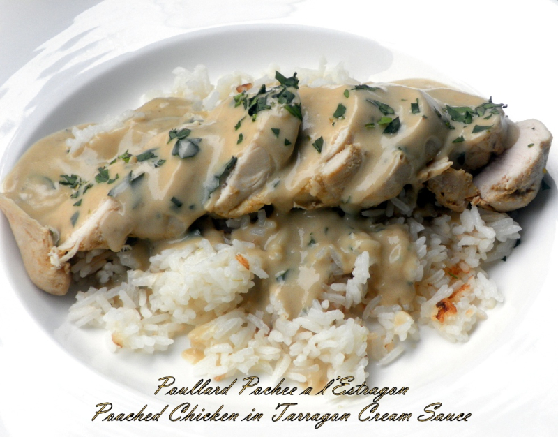 Poached chicken tarragon sauce-02