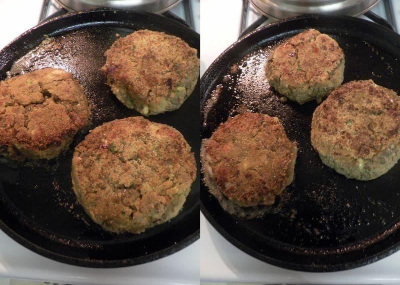 Mediterranean lentil burgers -collage3