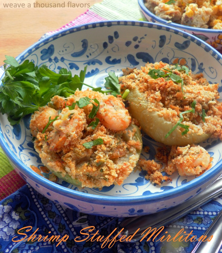 Shrimp stuffed mirlitons -01