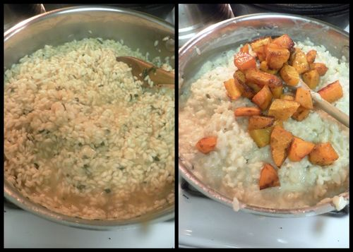 Risotto with butternut squash-collage4