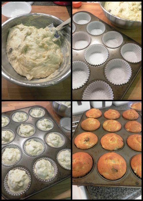 Banana buttermilk muffins-collage3