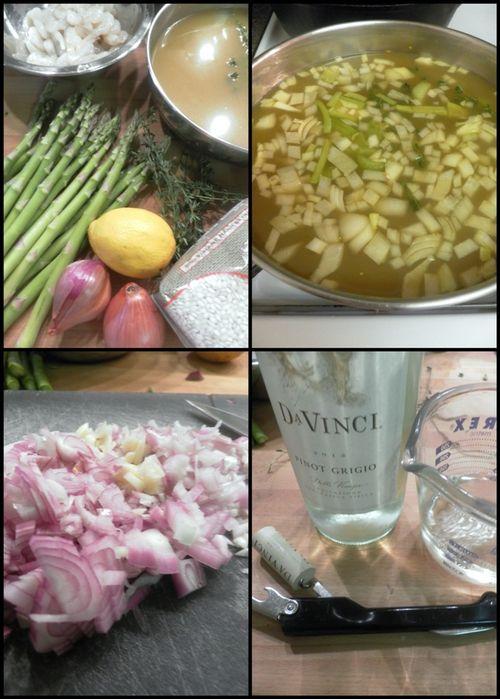 Shrimp asparagus risotto-collage1
