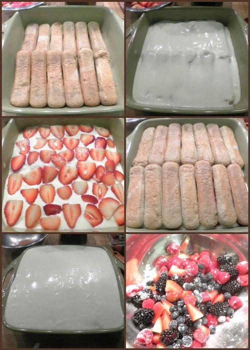 Berry tiramisu - collage4
