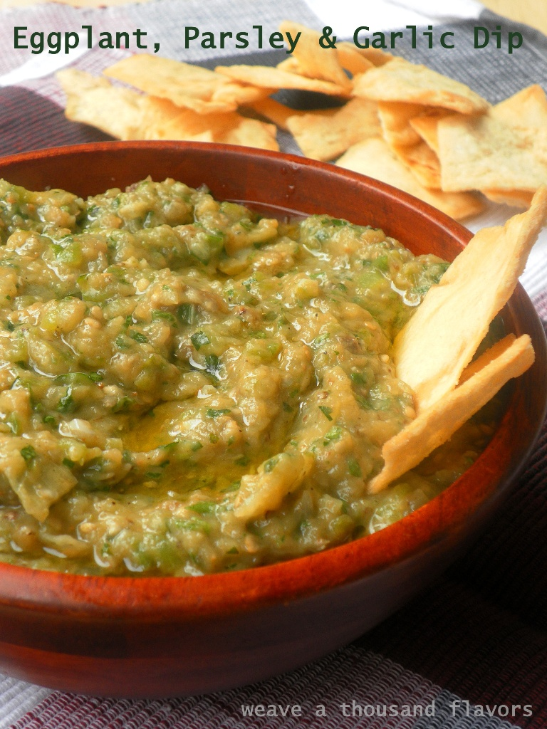 Eggplant, Parsley Garlic dip - 04