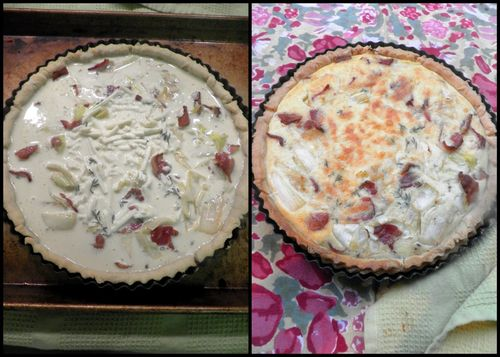 Bacon Leek quiche-collage4