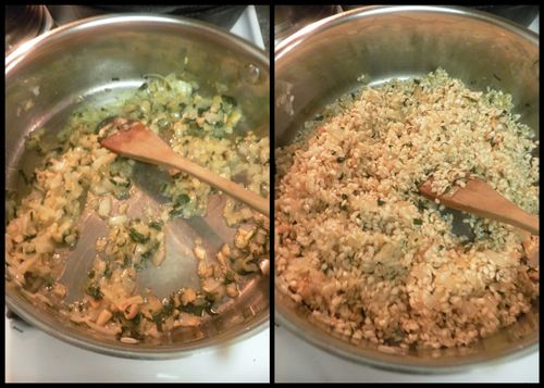 Risotto with butternut squash-collage2